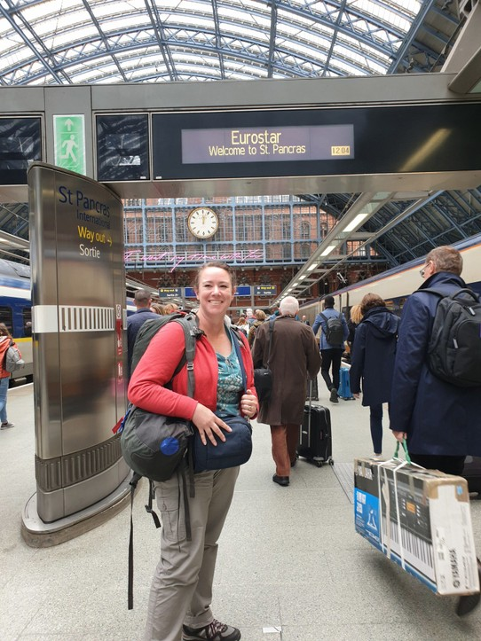 United Kingdom - London - Me at St Pancras