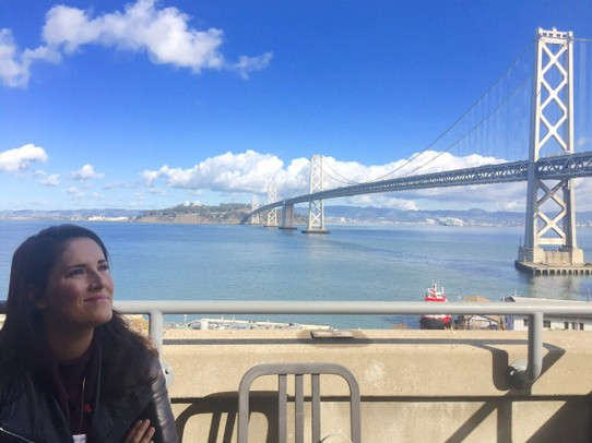 United States - San Francisco - At the Google San Francisco office overlooking the bay bridge