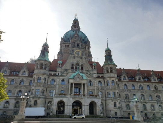 Germany - Hanover - Front of the New Town Hall