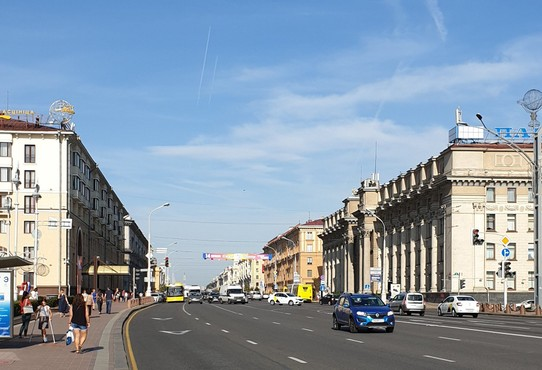 Belarus - Minsk - The main street of Minsk