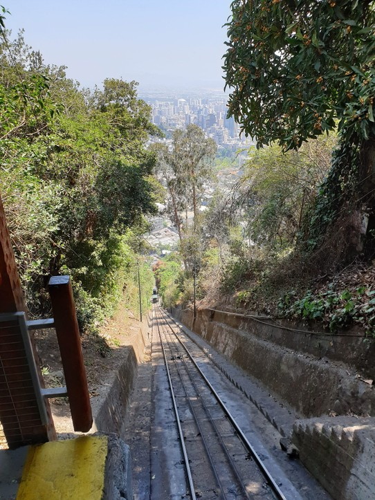 Chile - Santiago - Funicular up San Cristobal