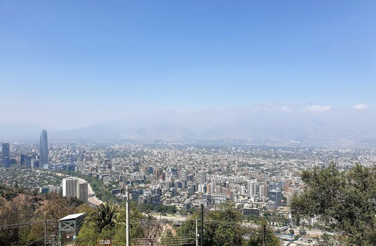 Chile - Santiago - View over the city to the Andes