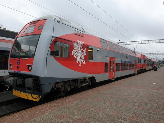 Belarus - Minsk - The Lithuanian train to Minsk