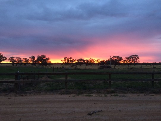Australia - Wentworth - A burning evening sky.