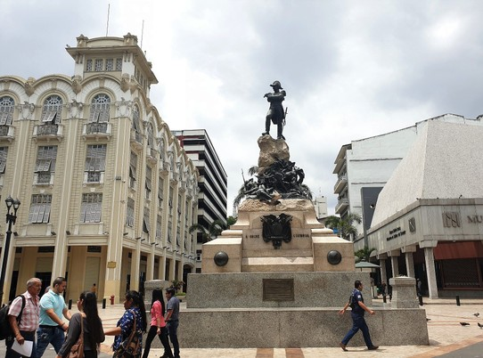 Ecuador - Guayaquil - Independence monument with Bolivar