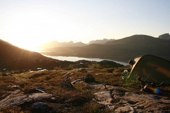 Norway - Senja - Most spectacular Zeltplatz ever
