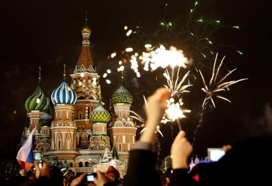 Russland - Moskau - Silvester on the Red Square