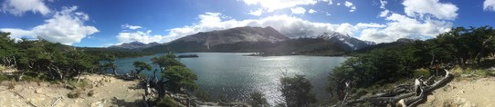 Argentina - El Chaltén - This was the panorama 20 meters from our first campsite