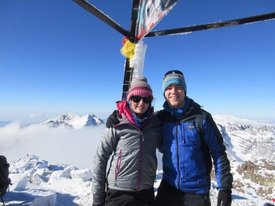 Morocco - Taroudant - Me and Leanne on the summit of Toubkal