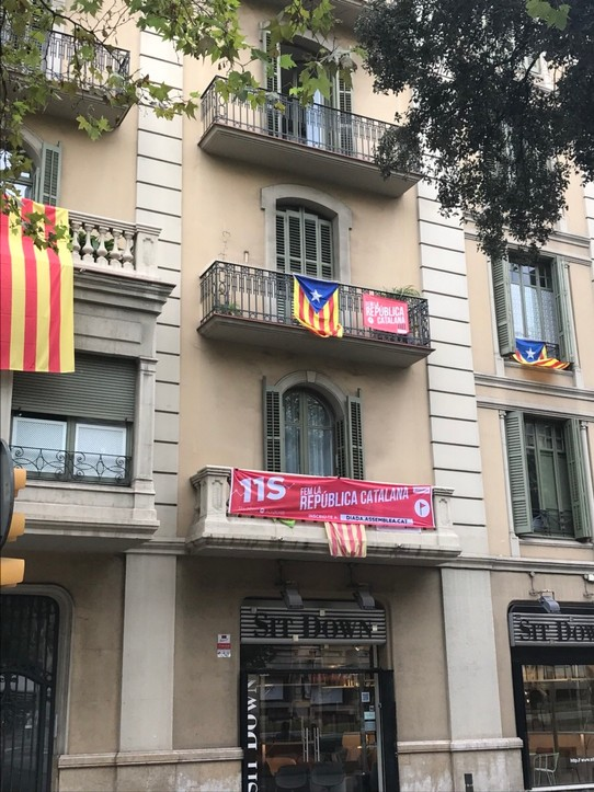 Spain - Barcelona - Flags for independence