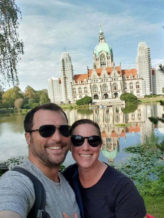 Germany - Hanover - Us and the New Town Hall