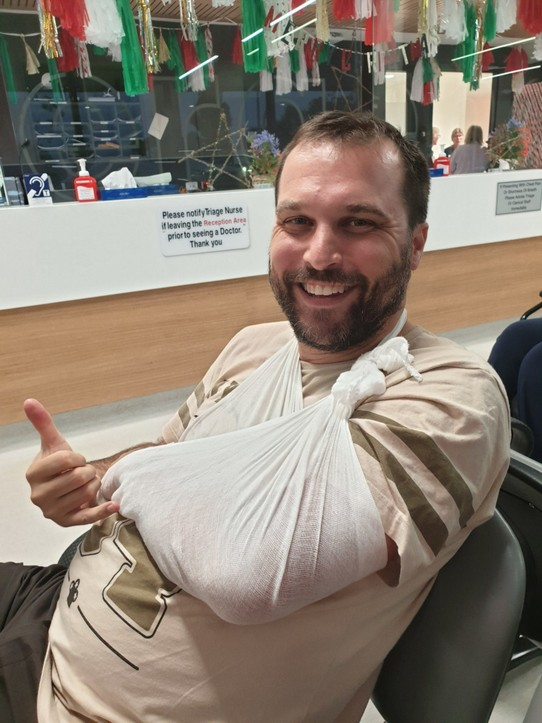 Australia - Sydney - This happened first week back at work (fractured elbow mountain biking)