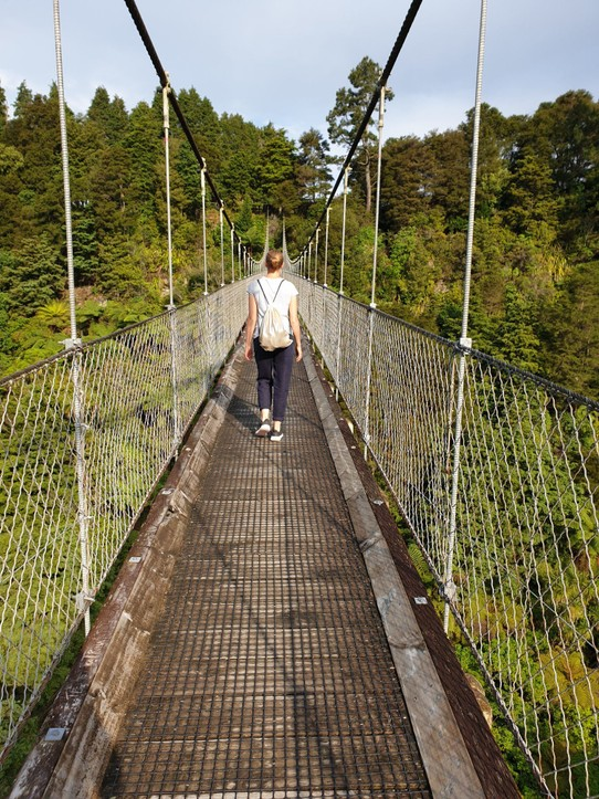 Neuseeland - Tauranga - Arapuni Suspension Bridge... ☺