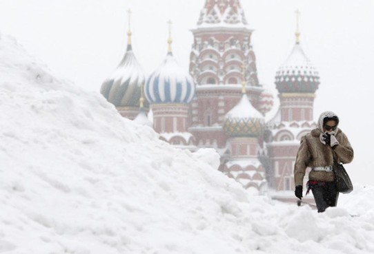 Russland - Moskau - First snow! Winter is coming to Moscow! 12th January 2016
