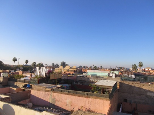 Morocco - Marrakech - The view from our rooftop terrace in our Riad