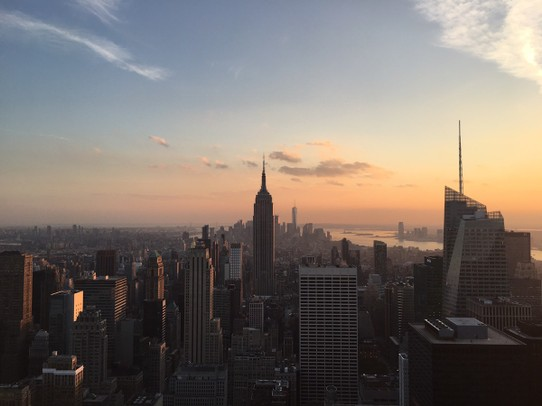United States - New York - Empire State Building im Sonnenuntergang