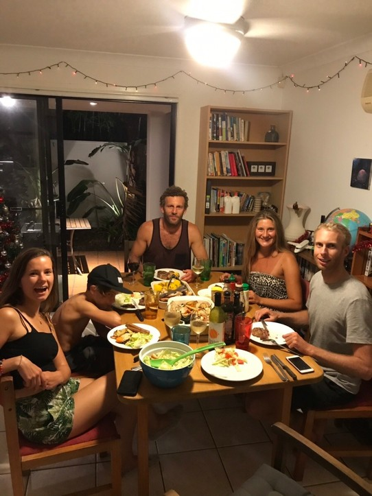 Australien - Surfers Paradise - Barbecue with the group