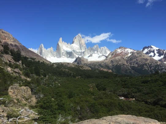 Argentina - El Chaltén - Main attraction is the mount Fitz Roy that looks like something straight out of The Lord of the Rings