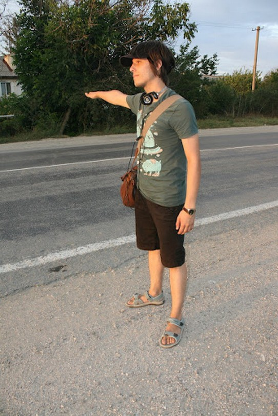 Ukraine - Feodosiya - hitchhiking...